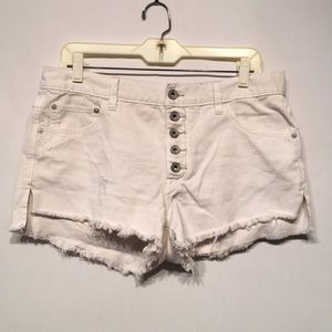 White Free People Distressed Shorts Size 28